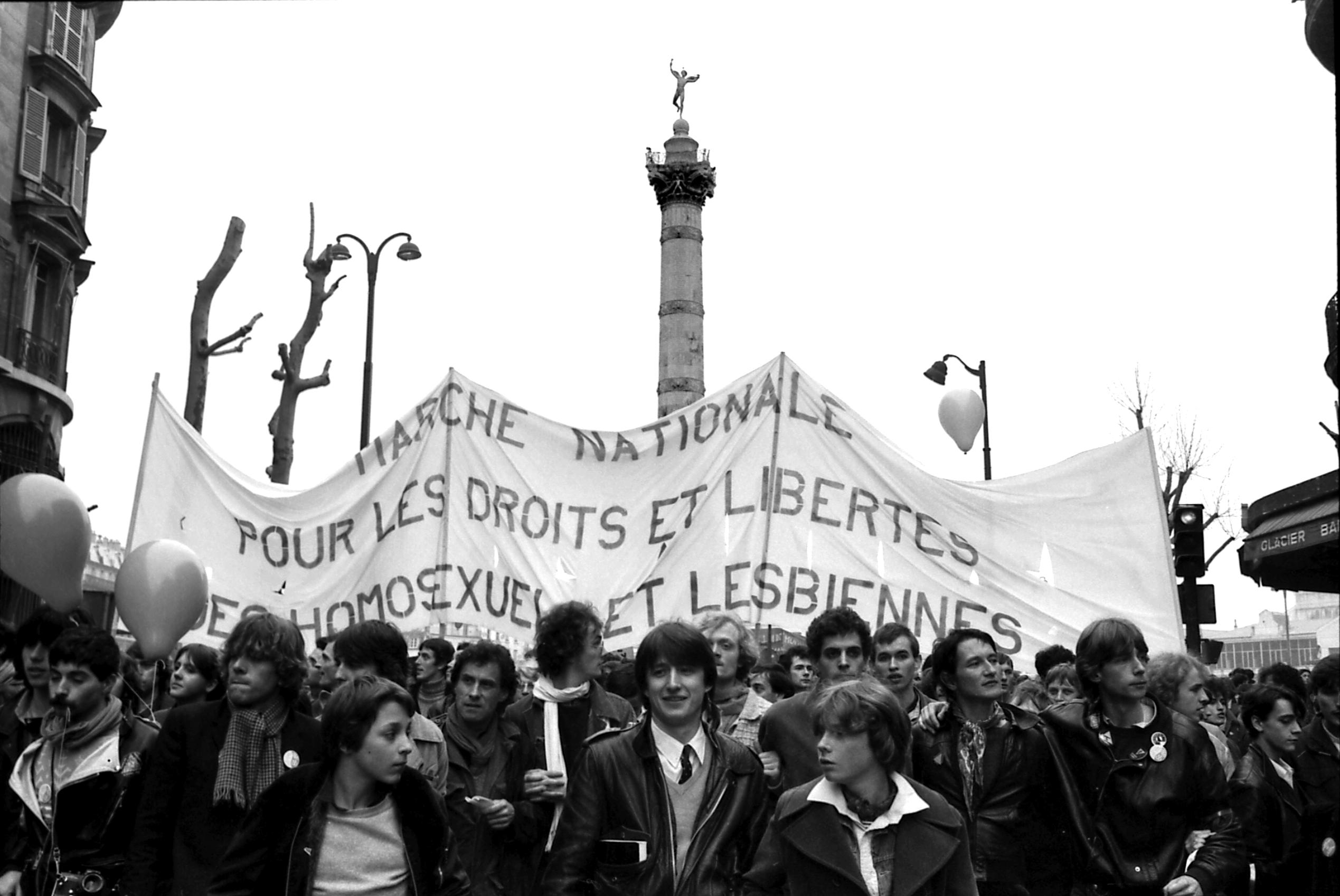 Seconde_marche_des_fiertés_gay_juin_1982_par_Claude_TRUONG-NGOC