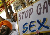 Activists of National Akali Dal shout slogans during protest in New Delhi