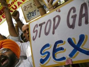 Activists of National Akali Dal shout slogans during protest in New Delhi