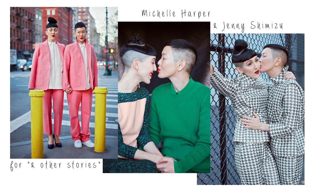 Michelle Harper et Jenny Shimizu posent pour & Other ...