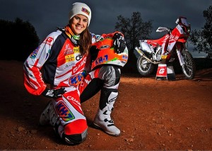 Laia Sanz et sa moto