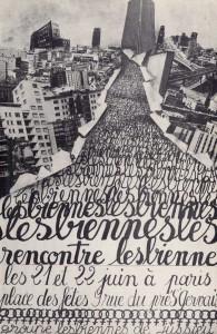Affiche des rencontres du 21 et 22 juin 1980 organisée apr les lesbiennes de Jussieu