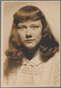 Barbara Gittings, Archive de famille. Photo prise entre 1947 et 1953
